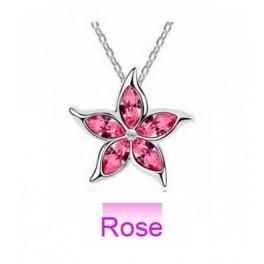 Ogrlica kristalna rožica (Rose)