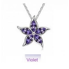 Ogrlica kristalna rožica (Violet)