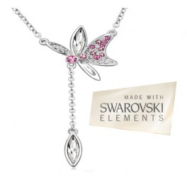 Ogrlica Lacewing butterfly (Made with Swarovski Elements)