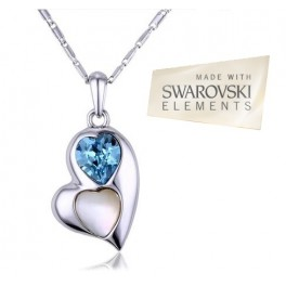 Ogrlica Heart of Stone Blue (Made with Swarovski Elements)