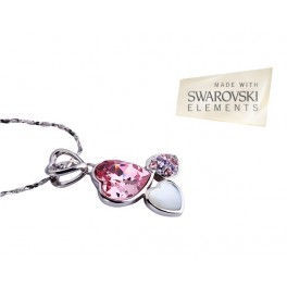 Ogrlica United Hearts (Made with Swarovski Elements)